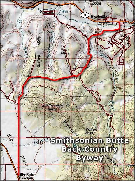 Smithsonian Butte Back Country Byway map