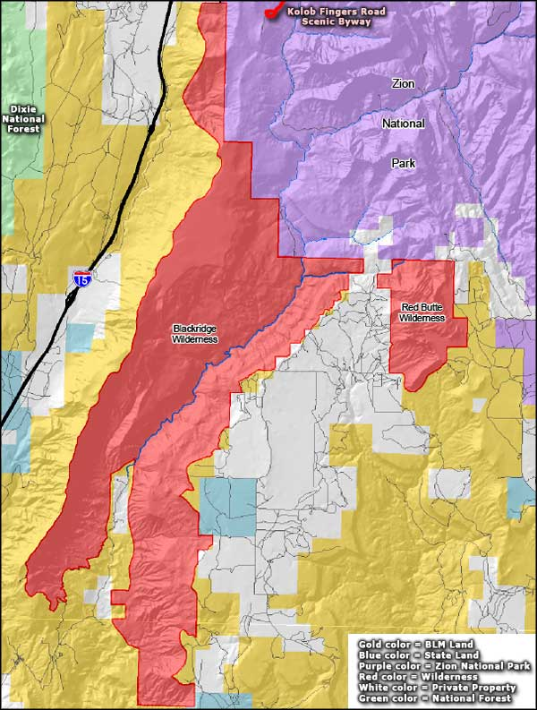 Red Butte Wilderness location map