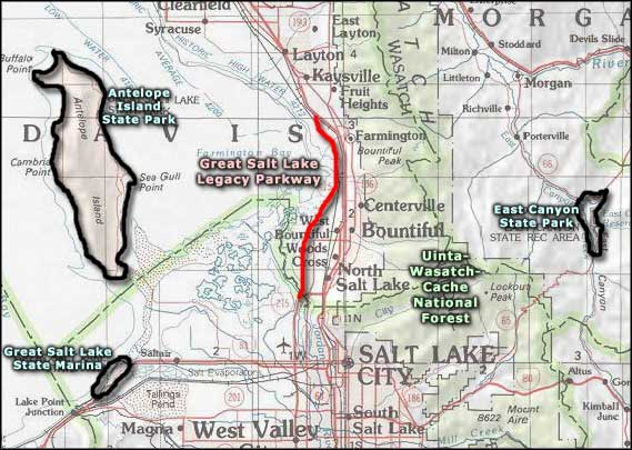East Canyon State Park area map