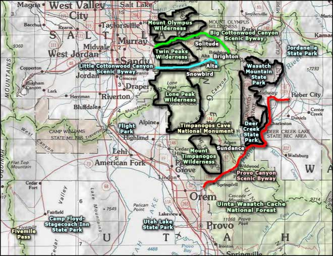 Fivemile Pass OHV Area area map