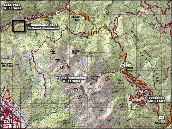 Sundance Resort area map