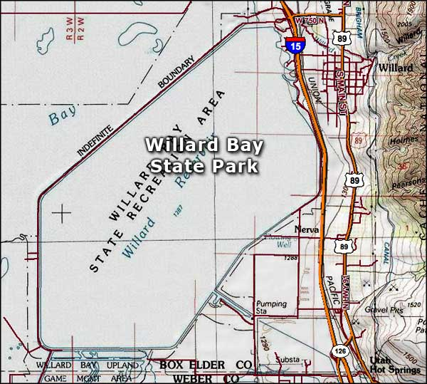 Willard Bay State Park area map