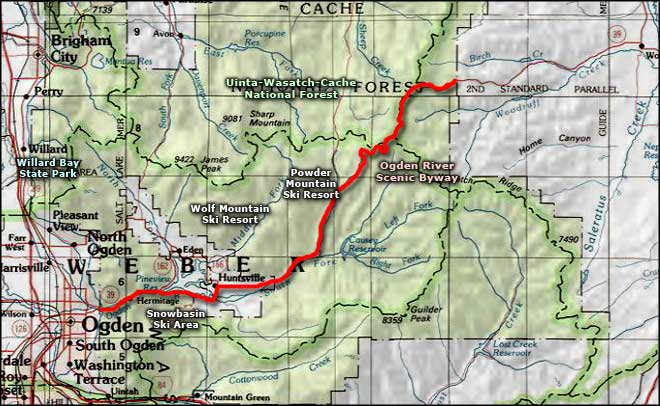 Ogden River Scenic Byway area map