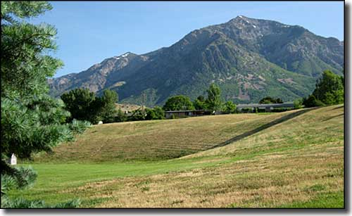 Ben Lomond in the Wasatch Mountains east of North Ogden