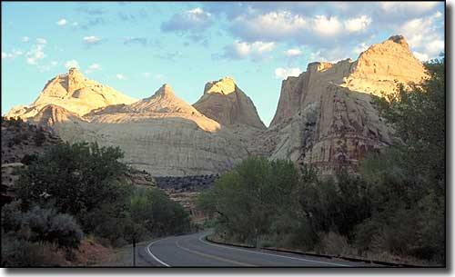 Navajo Peak in the early morning, along the Capitol Reef Country Scenic Byway