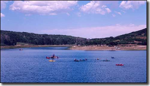 A kayaking class on Kolob Reservoir