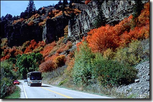 Fall colors along the Logan Canyon Scenic Byway