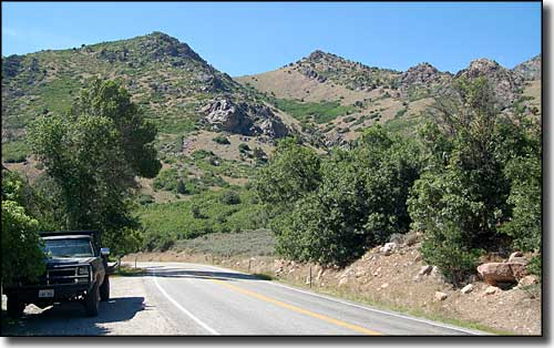 Typical view along the Ogden River Scenic Byway east of Huntsville