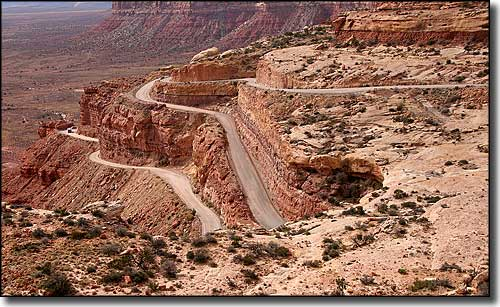 Moki Dugway, along the Trail of the Ancients