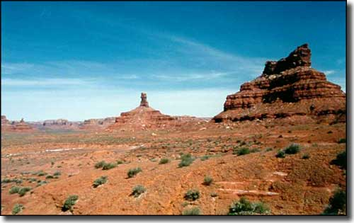 In the Valley of the Gods area, just north of Mexican Hat