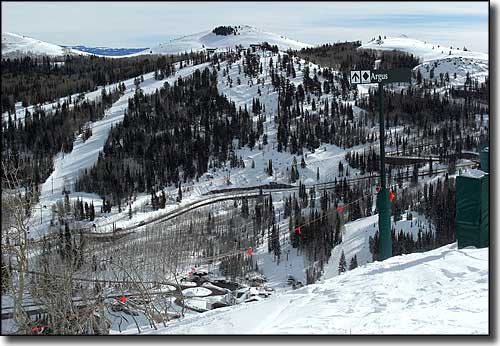 View from the Ruby Chairlift at Deer Valley Resort