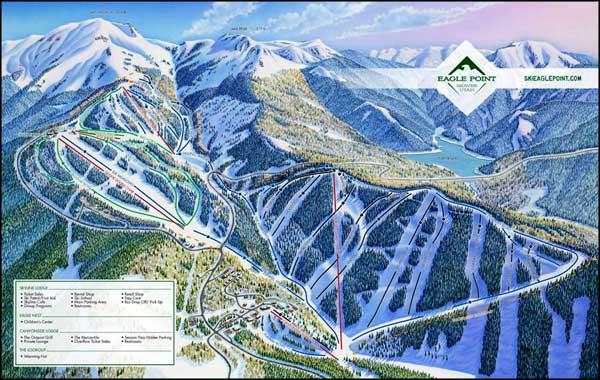 Eagle Point Ski Resort ski trails map