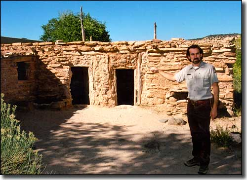 Reconstructed pueblo homes at Anasazi State Park Museum
