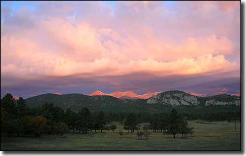 Sunrise over the Sangre de Cristo Mountains