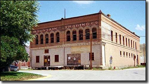 Old warehouse in Diamondville, Wyoming