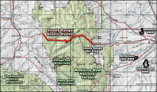 Encampment River Wilderness area map