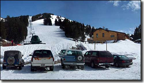 Pine Creek Ski Resort, from the parking area