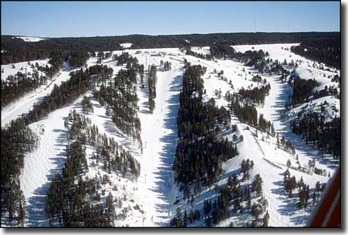 An aerial view of Hogadon Ski Area