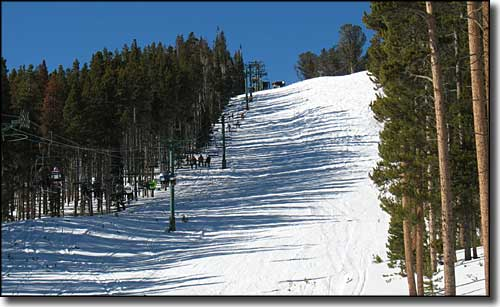One of the runs at the Snowy Range Ski Area